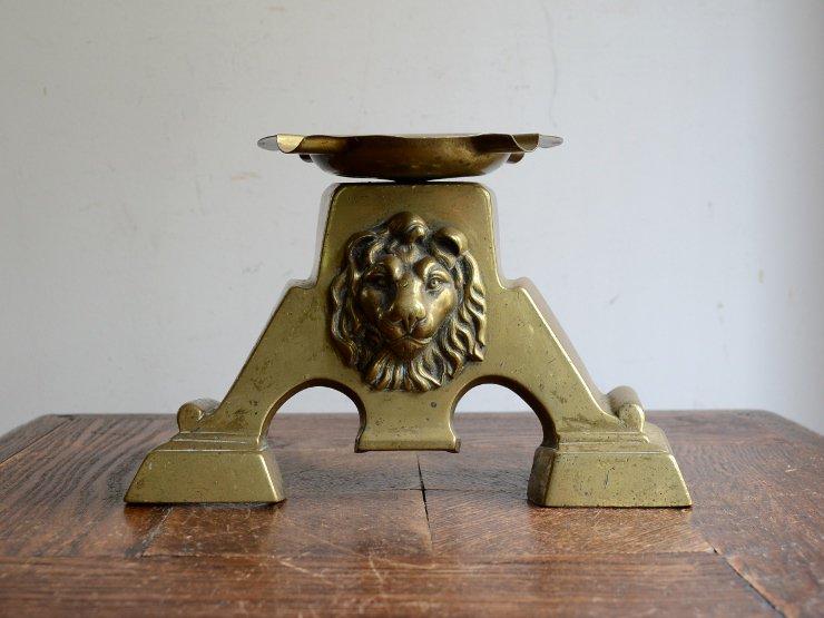アンティーク 真鍮ライオンモチーフ アシュトレイ