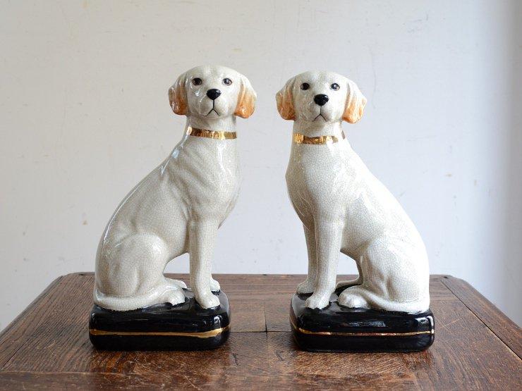 ヴィンテージ 犬モチーフ 陶器オブジェ セット