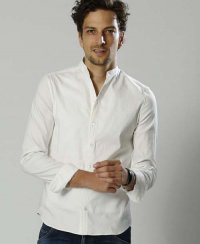 <img class='new_mark_img1' src='//img.shop-pro.jp/img/new/icons47.gif' style='border:none;display:inline;margin:0px;padding:0px;width:auto;' />《wjk》banded collar natural V shirts(4829cl11)【送料無料】