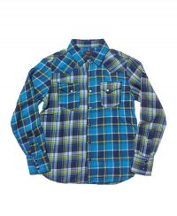 <img class='new_mark_img1' src='//img.shop-pro.jp/img/new/icons8.gif' style='border:none;display:inline;margin:0px;padding:0px;width:auto;' />《TMT》INDIGO MADRAS CRAZY PATTERN SHIRTS(TSHS1805)