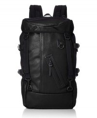《DECADE》Oiled Leather x Cordura Nylon Back Pack(No-01130B)【送料無料】