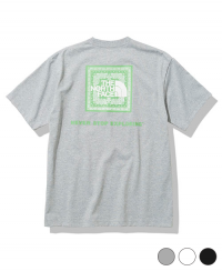 《THE NORTH FACE・メンズ》S/S バンダナ スクエアー ロゴ Tee(NT32108)