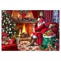 木製ジグソーパズル Santa by the Fire (40 Series)