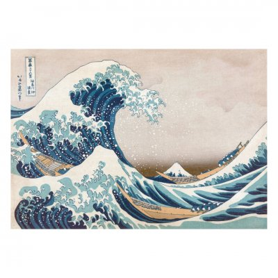 木製ジグソーパズル The Great Wave off Kanagawa (40 Series)