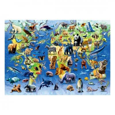 木製ジグソーパズル One Hundred Endangered Species (40 Series)