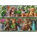 木製ジグソーパズル Kitchen Cats (40 Series)