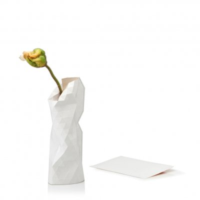 Paper Vase Cover Small Plain White