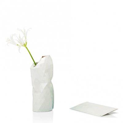Paper Vase Cover Small Light Gray Tones