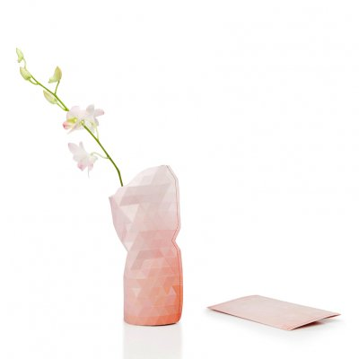 Paper Vase Cover Small Pink Tones