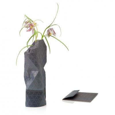 Paper Vase Cover Small Watercolor Gray