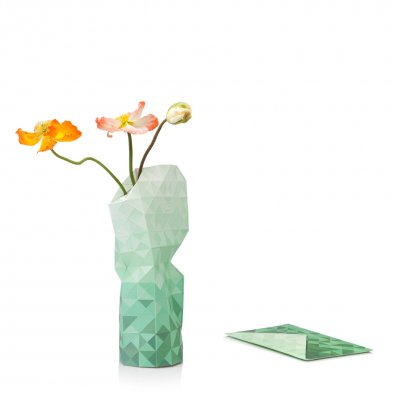 Tiny Miracles (タイニーミラクルズ) Paper Vase Cover Green Gradient