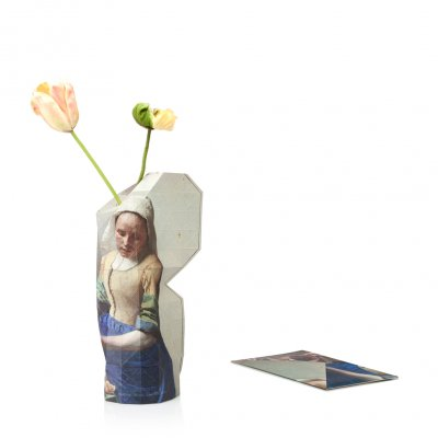 Tiny Miracles (タイニーミラクルズ) Paper Vase Cover 'Milkmaid' by Vermeer