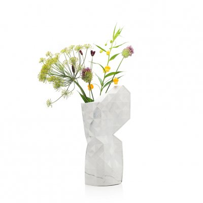 Tiny Miracles (タイニーミラクルズ) Paper Vase Cover Marble White