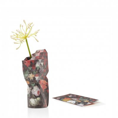 Paper Vase Cover Small Still Life with Flowers