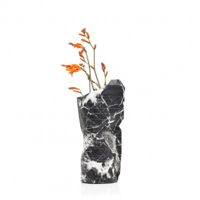 Tiny Miracles (タイニーミラクルズ) Paper Vase Cover Small Black Marble