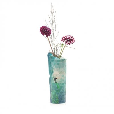 Paper Vase Cover Small Peacock