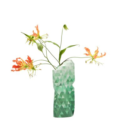 Tiny Miracles (タイニーミラクルズ) Paper Vase Cover Small Green Gradient
