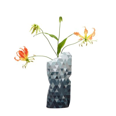 Paper Vase Cover Small Gray Gradient