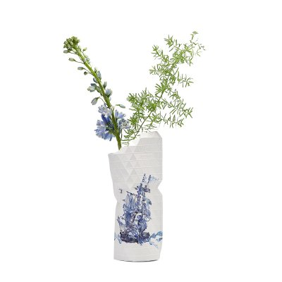Tiny Miracles (タイニーミラクルズ) Paper Vase Cover Small Delft Blue