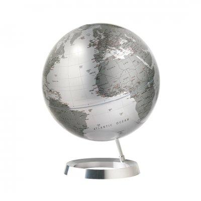アトモスフィア 地球儀 ビジョン メタリックシルバー 【イタリア製】