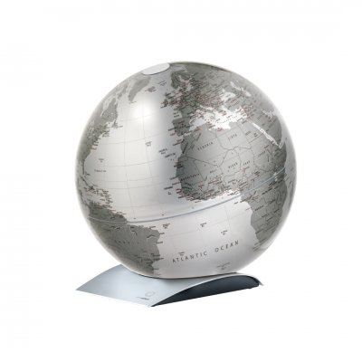 アトモスフィア 地球儀 キャピタルキュー メタリックシルバー 【イタリア製】