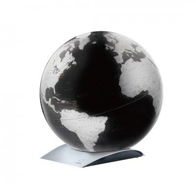 アトモスフィア 地球儀 キャピタルキュー メタリックブラック 【イタリア製】