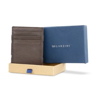 GARZINI (ガルジーニ) Essenziale Coin Pocket Chocolate Brown