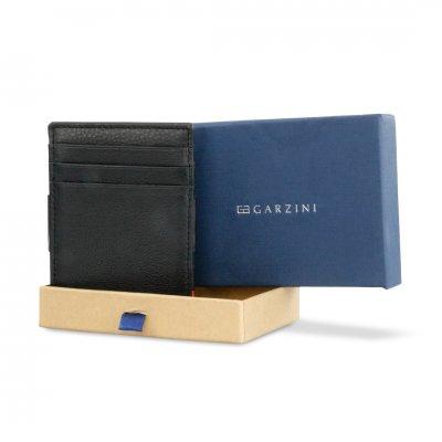 GARZINI (ガルジーニ) Essenziale Coin Pocket Black