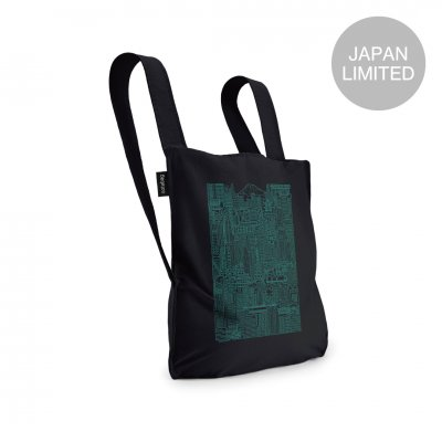 <img class='new_mark_img1' src='https://img.shop-pro.jp/img/new/icons1.gif' style='border:none;display:inline;margin:0px;padding:0px;width:auto;' />BAG & BACKPACK The Tokyo Notabag Black/Mint Print