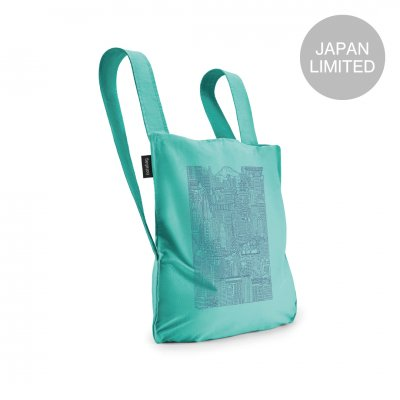 BAG & BACKPACK The Tokyo Notabag Mint/Navy Blue Print