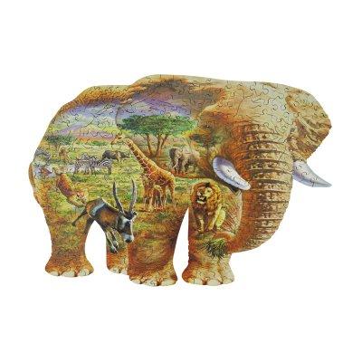 木製ジグソーパズル ELEPHANT SAVANNA (250Series)