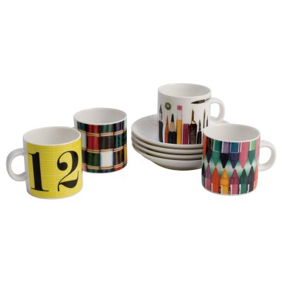 EAMES ESPRESSO GIFT SET (4 Cups & 4 Saucers) カップ&ソーサー 4客セット