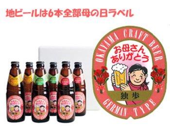 宮下酒造 母の日ギフトラベル 地ビール独歩6本セット(送料込み)