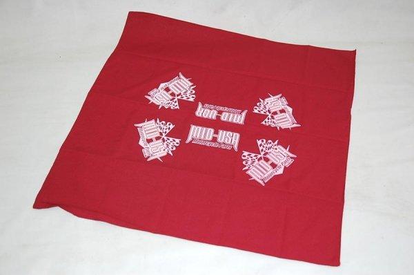 MID-USA オリジナルバンダナ レッド×ホワイトロゴ