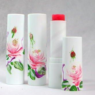 バラの香りのリップバーム・紫根エキス入り 7g・スティック型