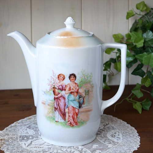 アンティーク・陶器のティーポット(チェコスロバキア製) 10人用