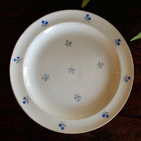 アンティーク・ディナー皿(りんどう)A