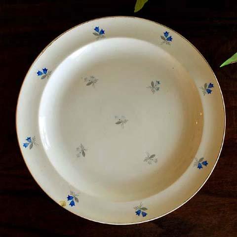 アンティーク・ディナー皿(りんどう)B