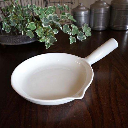 アンティーク・陶器製フライパン(直径23cm)