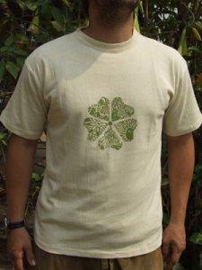 ヘンプサクラプリントTシャツ:メンズサイズ