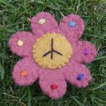 フェルトワッペン:Peace Flower