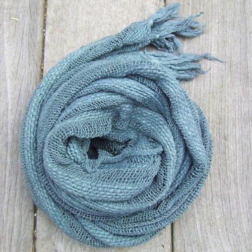 草木染めローシルクスカーフ