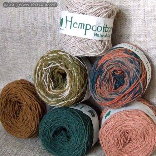 草木染めHemp Cotton  毛糸【2013】