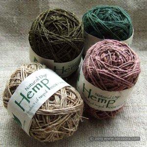 手紡ぎHemp 糸【2013】