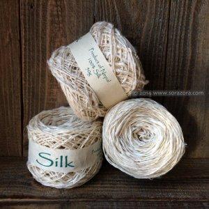 手紡ぎシルク糸 【2015】