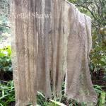 手紡ぎイラクサ手編みショール