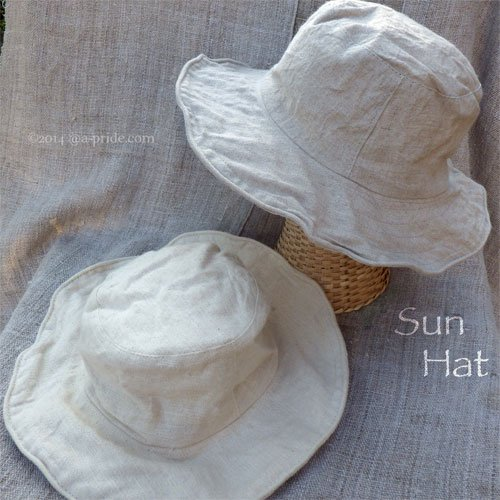 Natural Sun Hat:Linen/Hemp