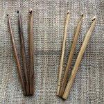 手彫りかぎ編み針【Bamboo/Wood】