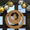 木のミニクリスマスリース【ツリー】
