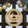 木のミニクリスマスリース【トナカイ】